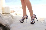 breton stripe heels